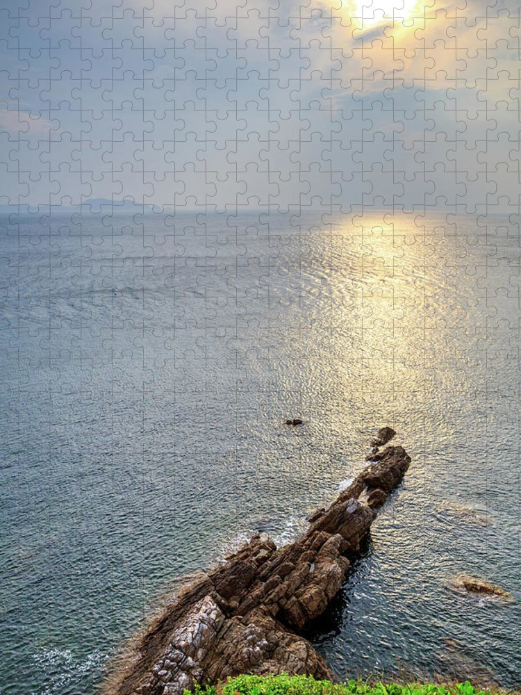 Scenics Puzzle featuring the photograph Sunrise Over The Coast Of Shenzhen by Feng Wei Photography