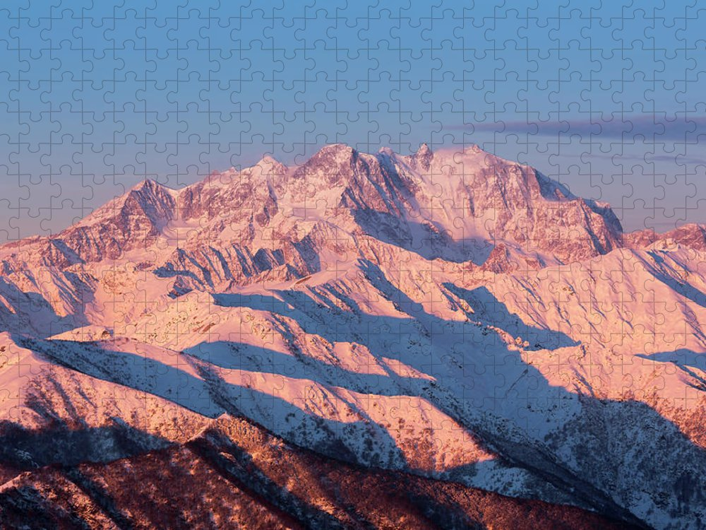 Pennine Alps Puzzle featuring the photograph Sunrise Over The Monte Rosa by Buena Vista Images