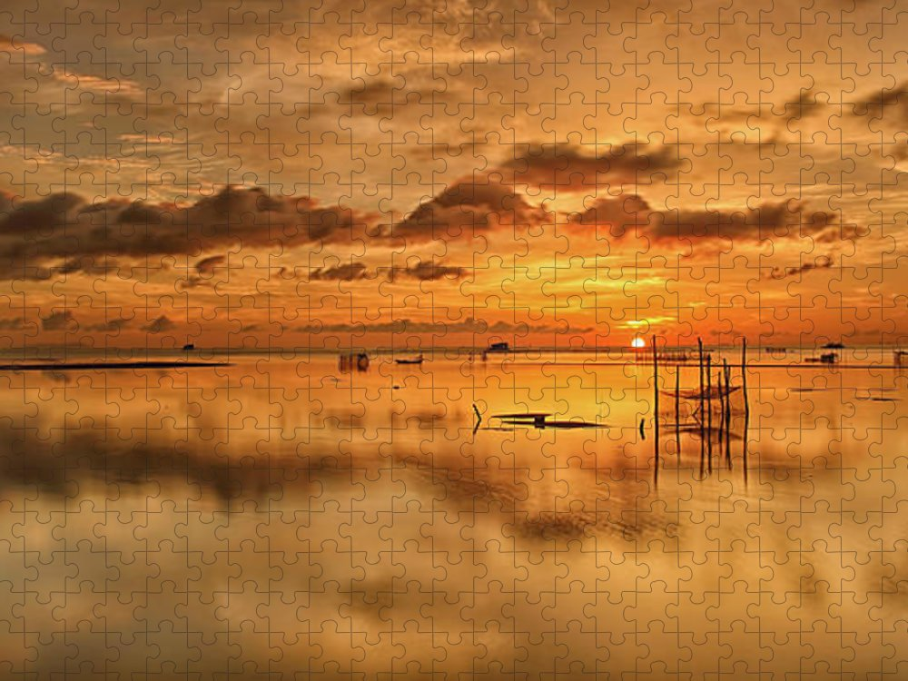 Scenics Puzzle featuring the photograph Sunrise, Phu Quoc, Vietnam by Huyenhoang