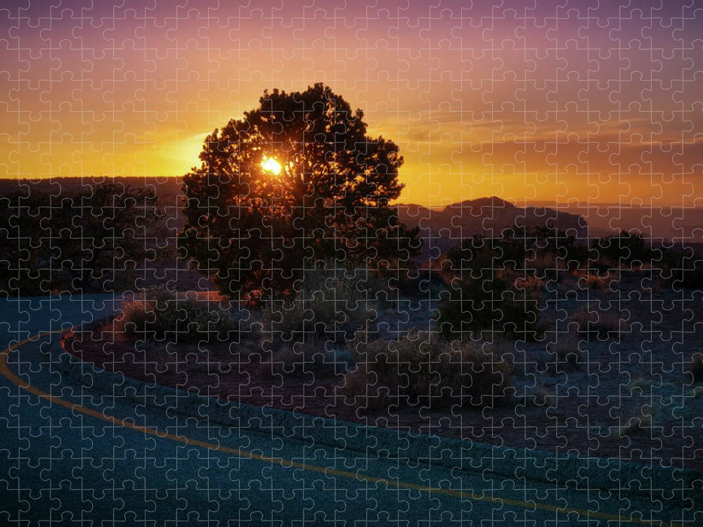 Scenics Puzzle featuring the photograph Sunset Over Canyonlands, Moab, Utah, Usa by Fotomonkee