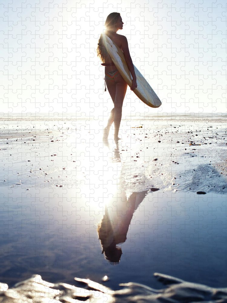 Youth Culture Puzzle featuring the photograph Surfer Girl by Ianmcdonnell