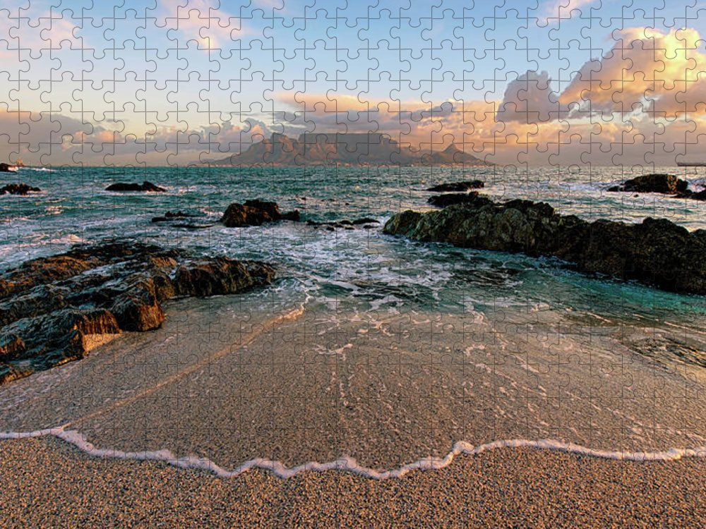 Tranquility Puzzle featuring the photograph Table Mountain Wave Fan by Paul Bruins Photography