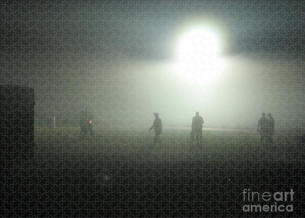Fog Puzzle featuring the digital art Talladega Night by Matthew Seufer