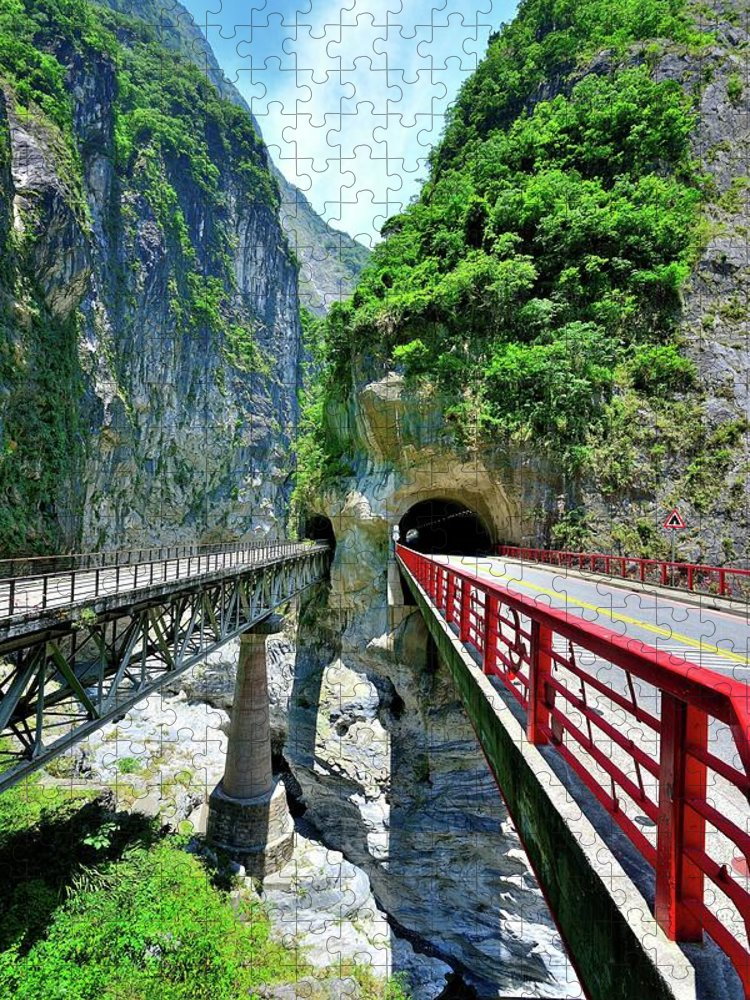 Built Structure Puzzle featuring the photograph Taroko Gorge by Photography By Anthony Ko