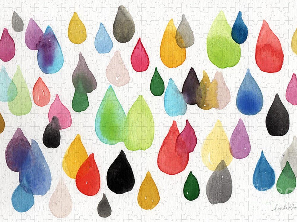Drops Puzzle featuring the painting Tears Of An Artist by Linda Woods