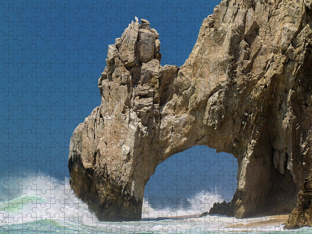Scenics Puzzle featuring the photograph The Arch Of Los Cabos San Lucas by Marc Javelly