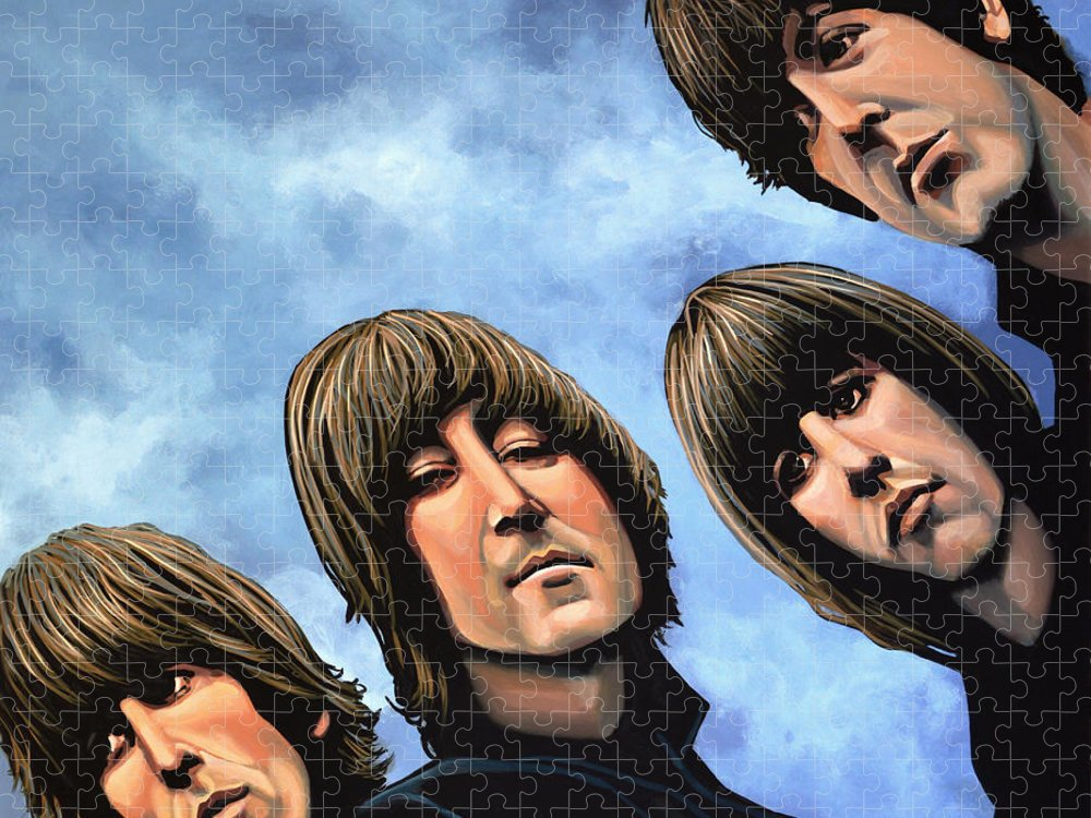 The Beatles Puzzle featuring the painting The Beatles Rubber Soul by Paul Meijering