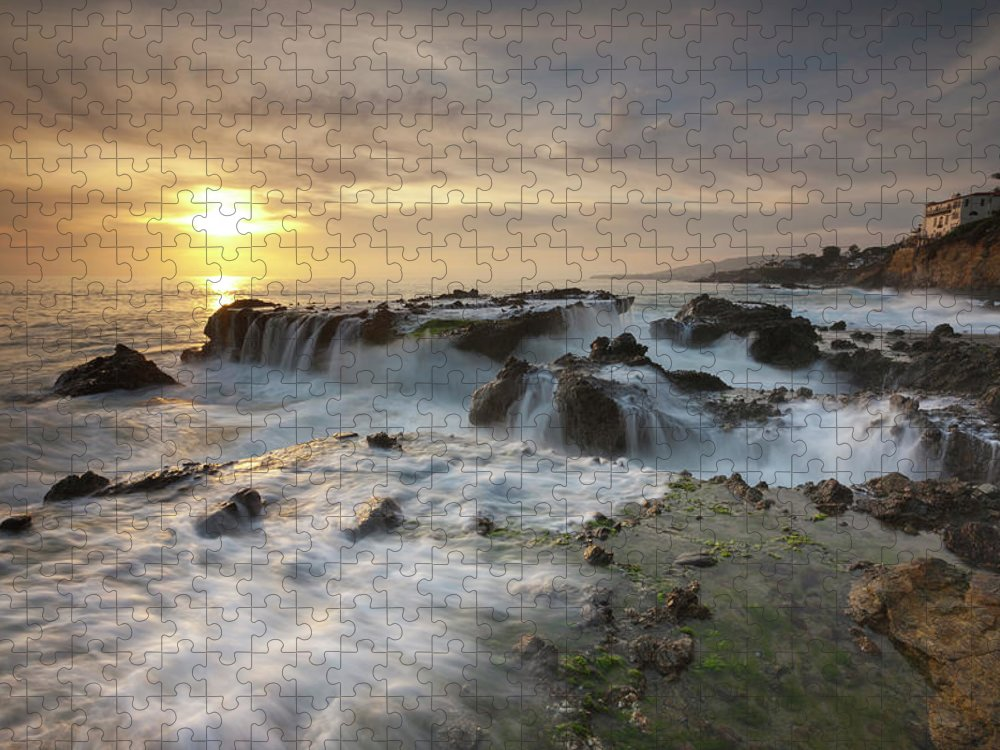 Scenics Puzzle featuring the photograph The Cauldron - Victoria Beach by Images By Steve Skinner Photography