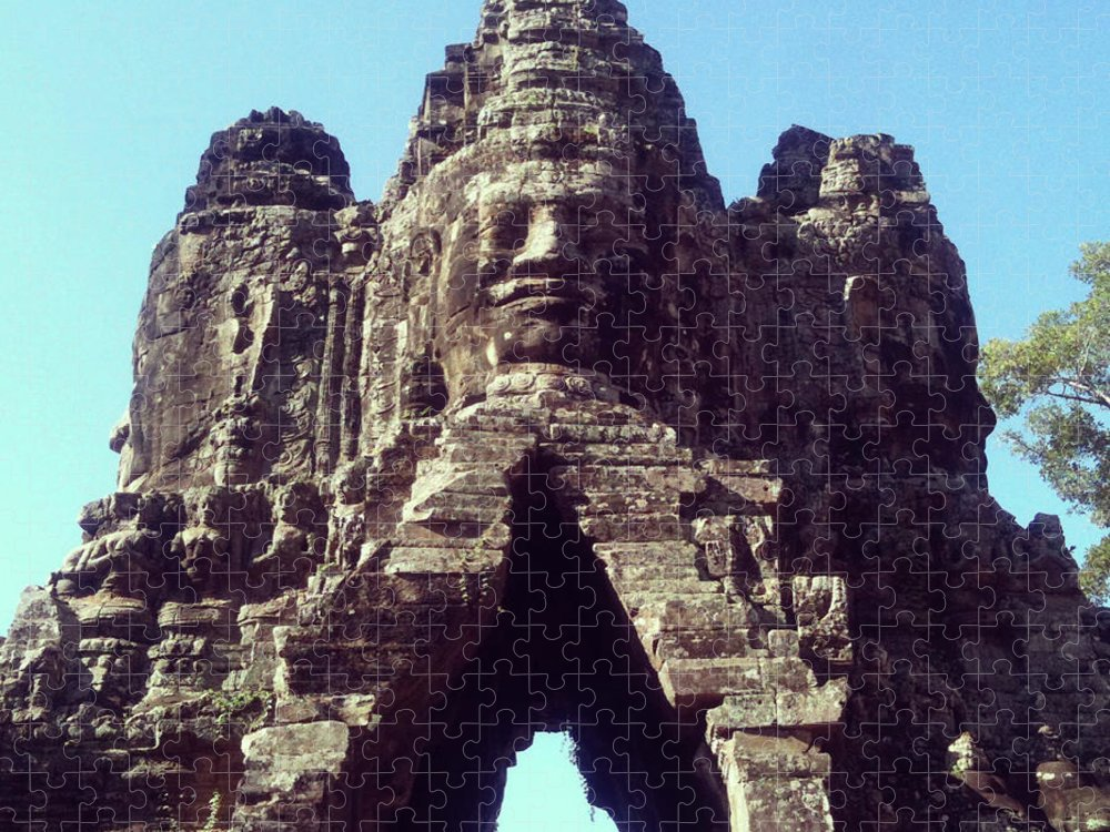 Arch Puzzle featuring the photograph The City Gates At Angkor by Lasse Kristensen