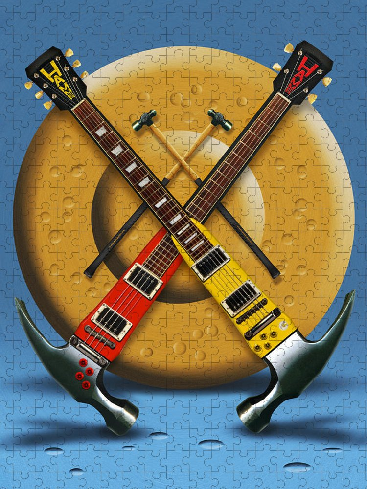 Rock And Roll Puzzle featuring the photograph The Hammer by Mike McGlothlen