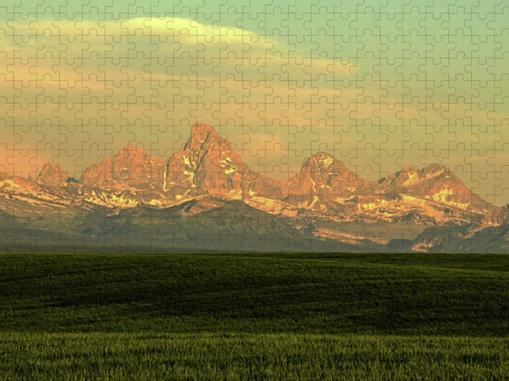 Scenics Puzzle featuring the photograph The Idaho Side Of The Grand Tetons by ©anitaburke