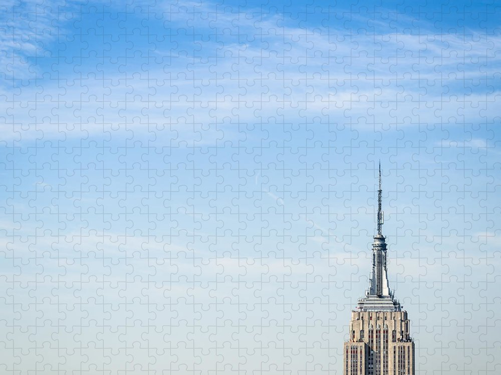 Lower Manhattan Puzzle featuring the photograph The New York City Empire State Building by Franckreporter