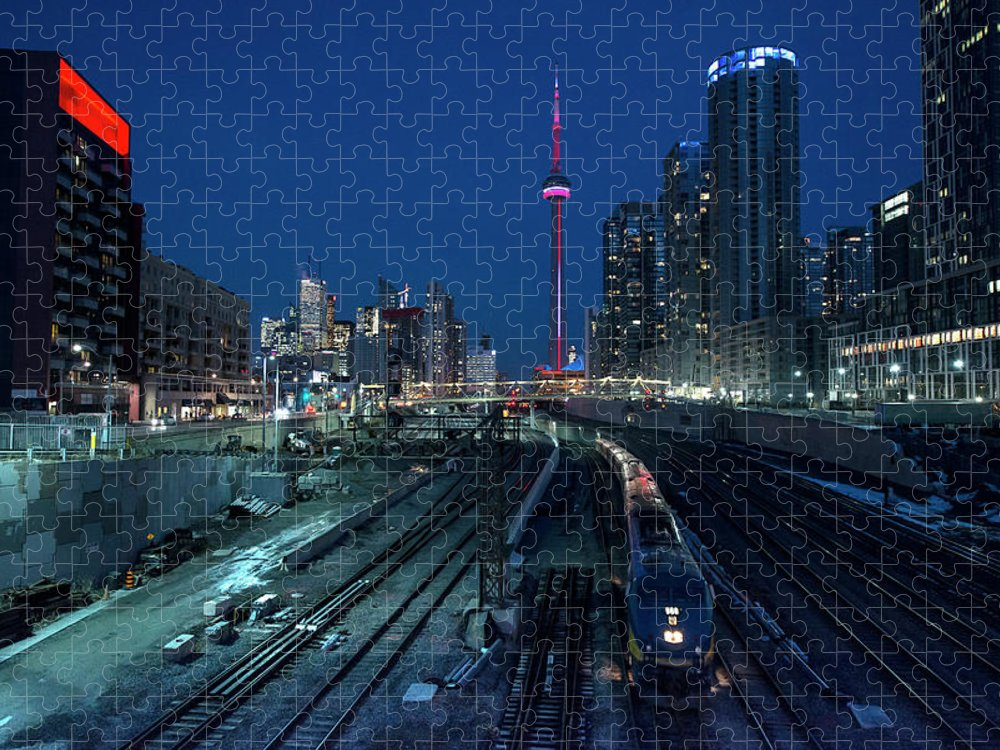 Train Puzzle featuring the photograph The Railway Lands Toronto by This Image