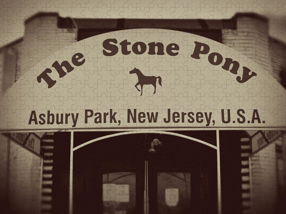 The Stone Pony Vintage Asbury Park New Jersey Puzzle featuring the photograph The Stone Pony Vintage Asbury Park New Jersey by Terry DeLuco