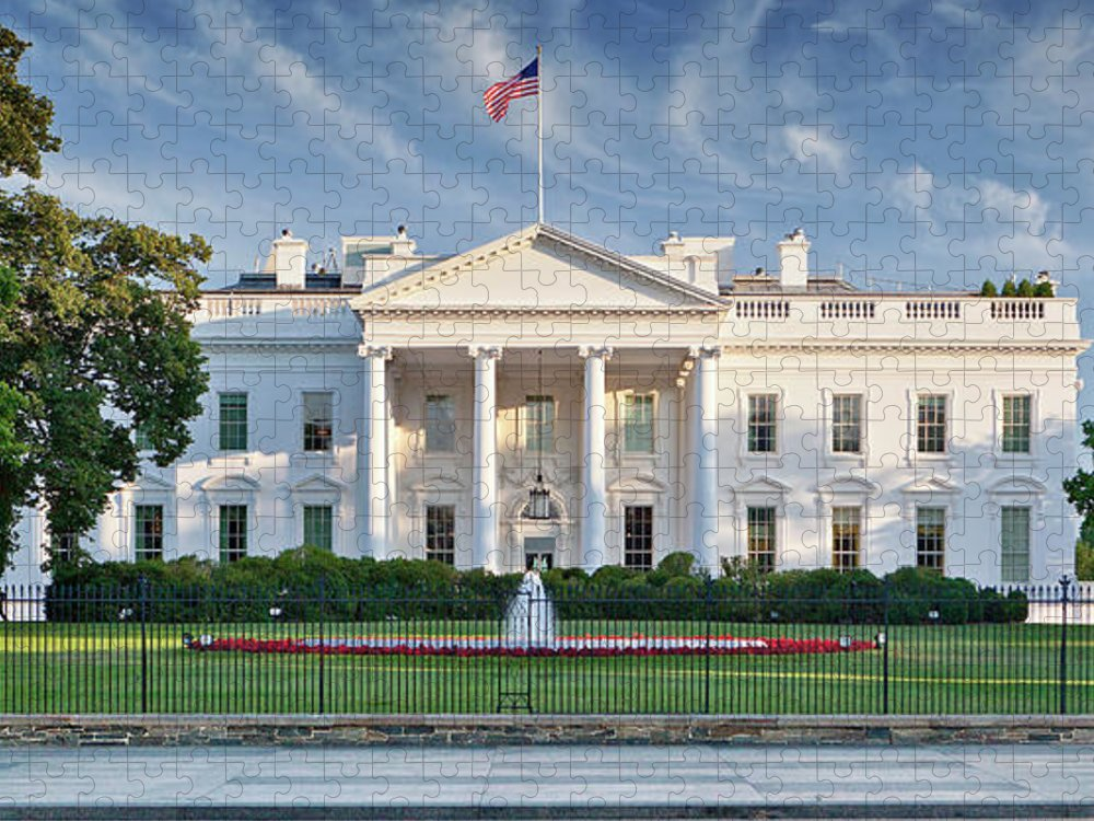 Flowerbed Puzzle featuring the photograph The White House by Caroline Purser