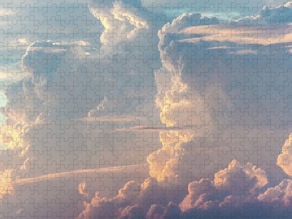 Tranquility Puzzle featuring the photograph Thunder by Khh 1971