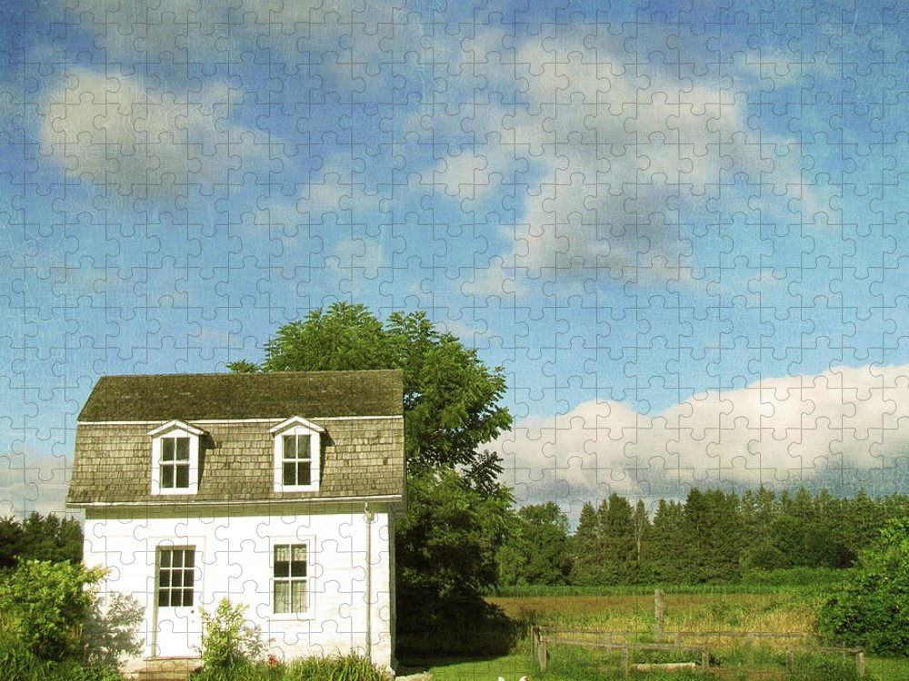 Tranquility Puzzle featuring the photograph Tiny Country House by Francois Dion
