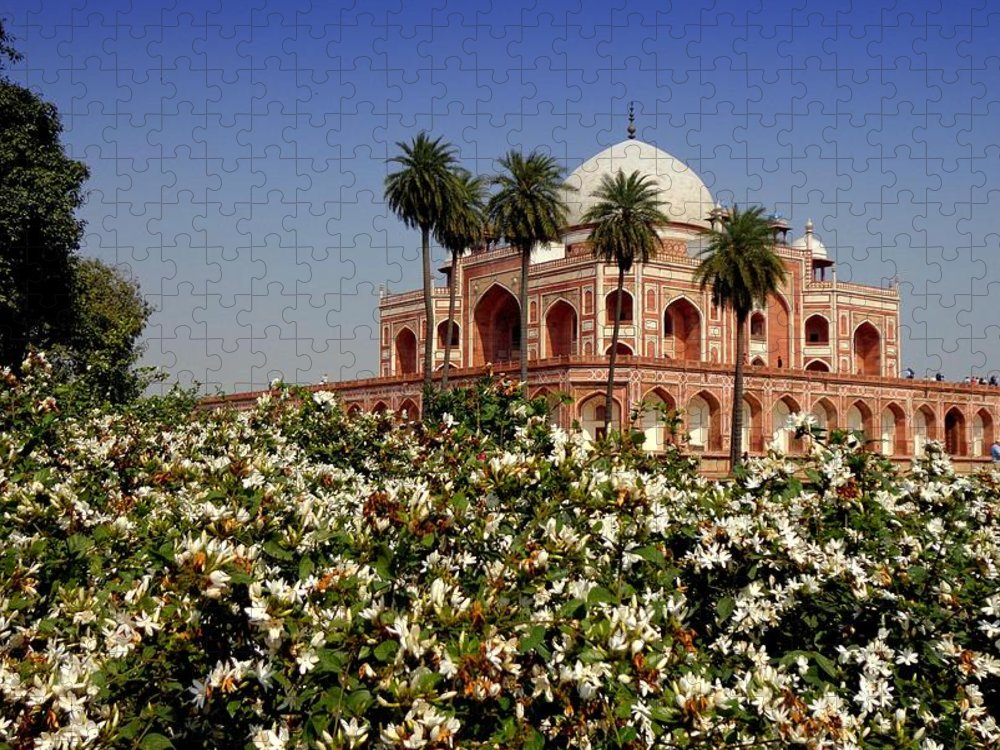 Tranquility Puzzle featuring the photograph Tomb Of Humayun by Smit Sandhir