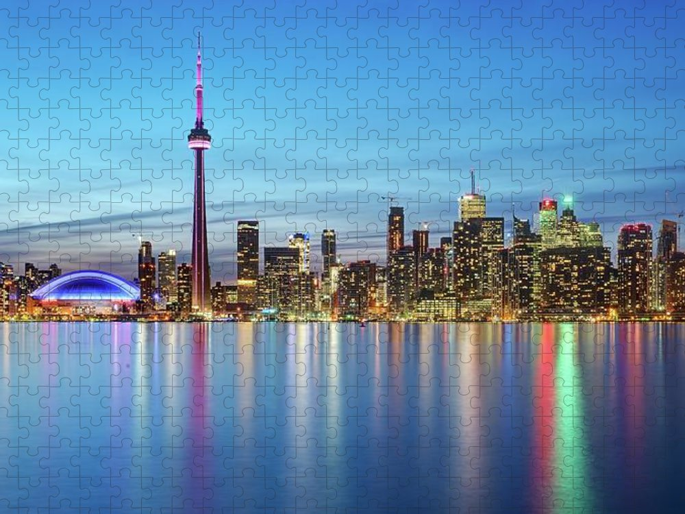 Tranquility Puzzle featuring the photograph Toronto Skyline by Thomas Kurmeier