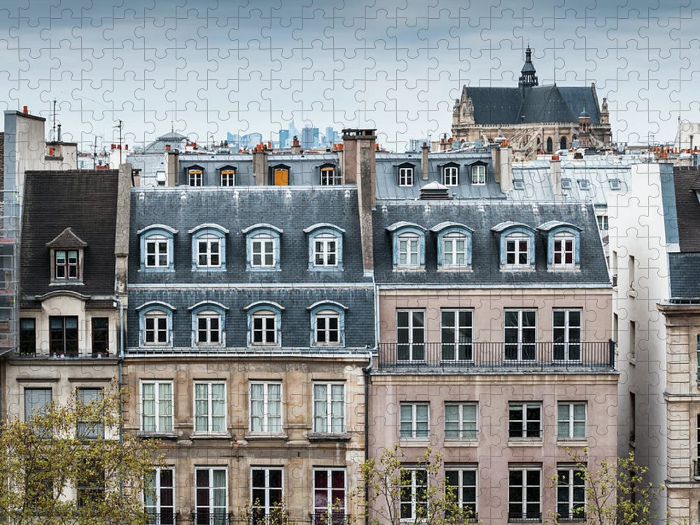 Built Structure Puzzle featuring the photograph Traditional Buildings In Paris by Mmac72