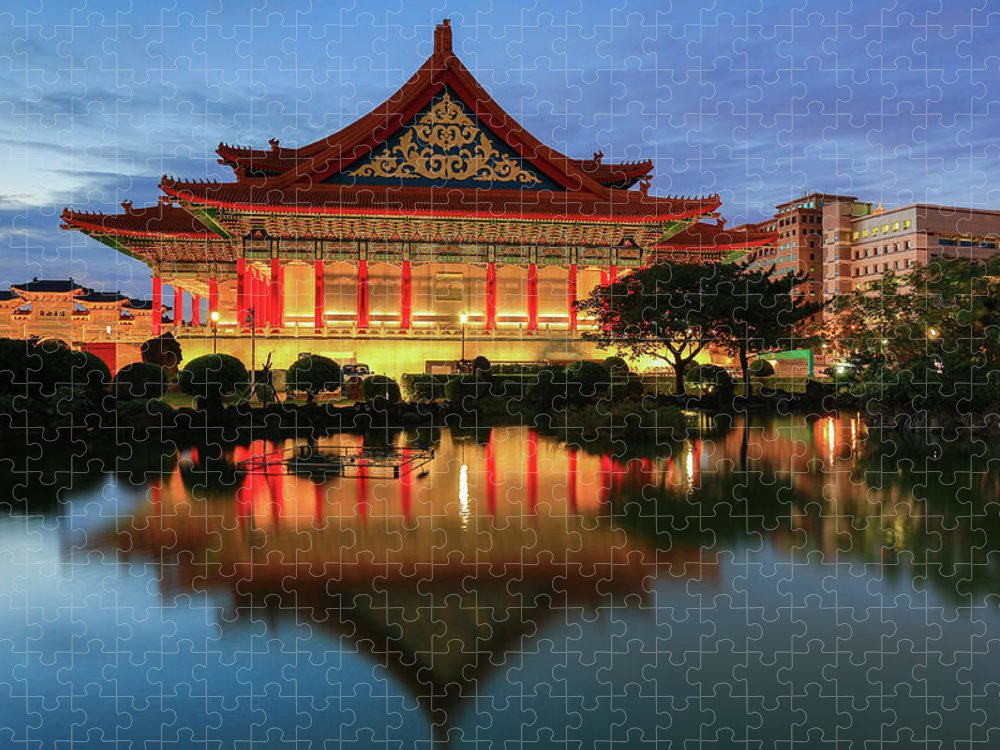 Chinese Culture Puzzle featuring the photograph Traditional Chinese Palace by Uschools