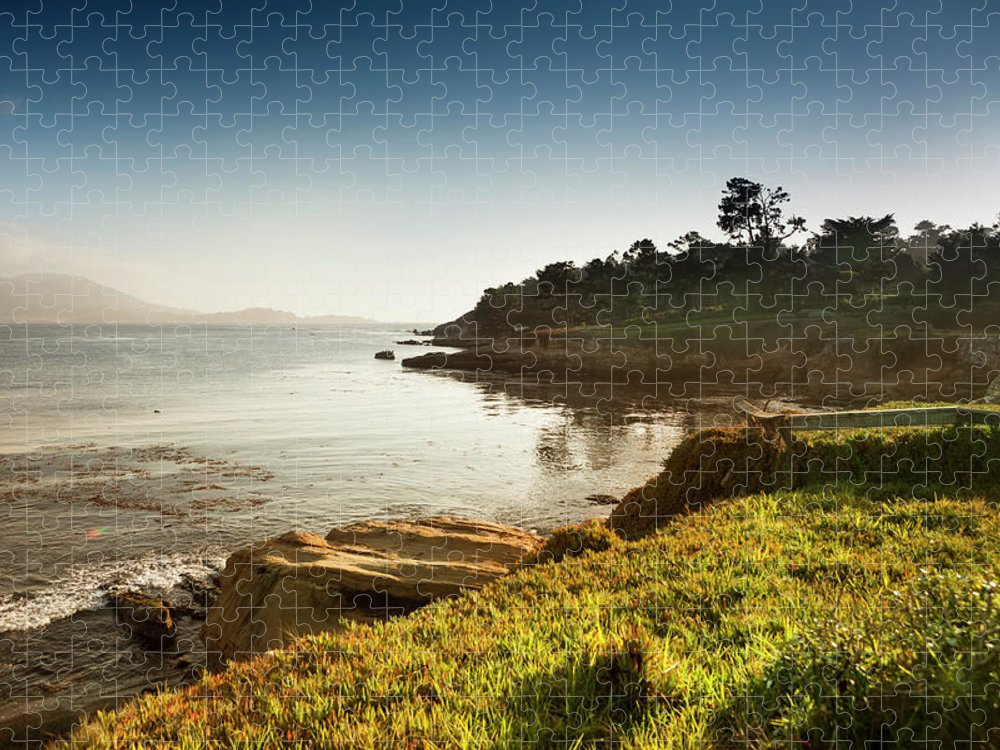 Water's Edge Puzzle featuring the photograph Usa, California, Big Sur, Coastline And by Pgiam