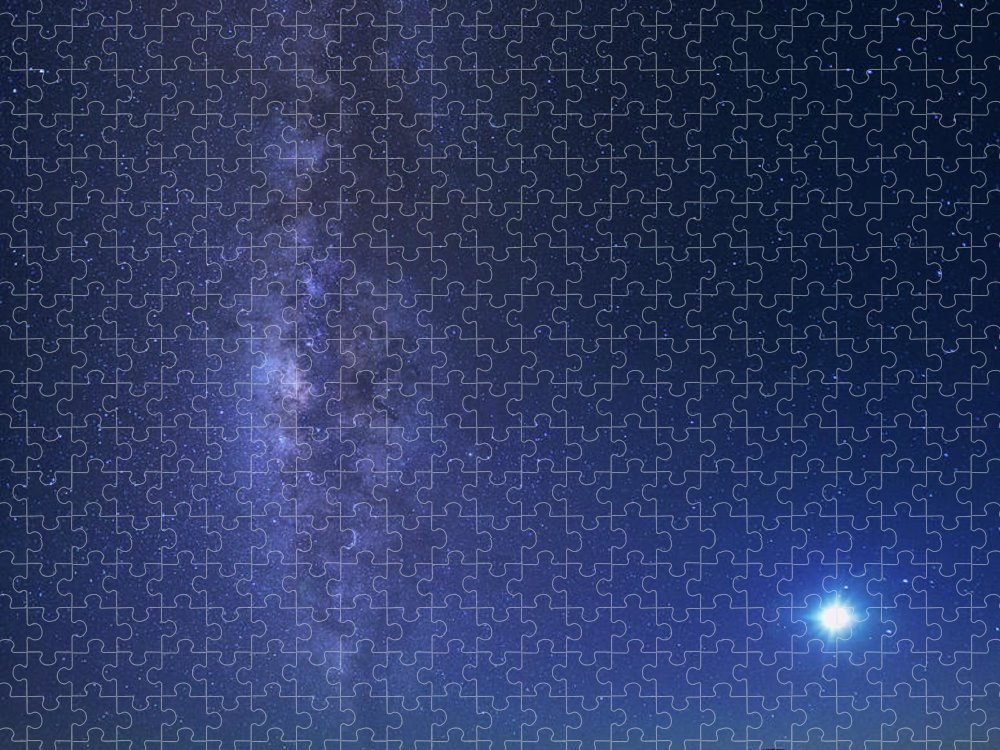 Tranquility Puzzle featuring the photograph Usa, Hawaii, Maui, Milky Way by Michele Falzone