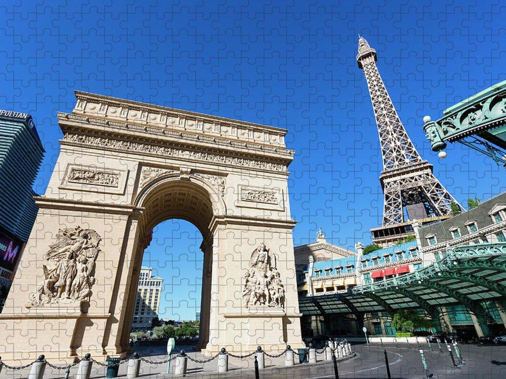 Arch Puzzle featuring the photograph Usa, Nevada, Las Vegas, Paris Las Vegas by Sylvain Sonnet
