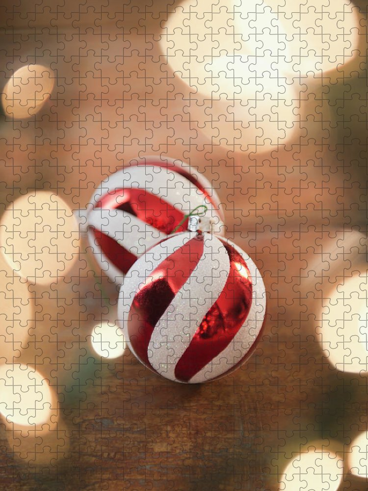 Christmas Ornament Puzzle featuring the photograph Usa, New Jersey, Jersey City, Christmas by Jamie Grill