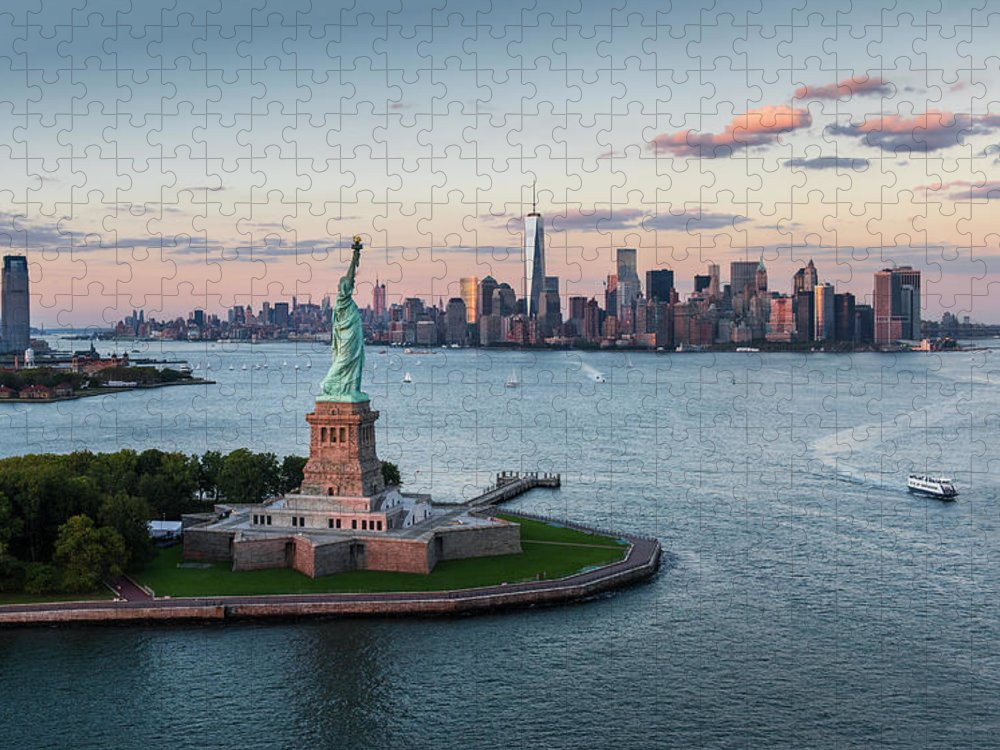 Tourboat Puzzle featuring the photograph Usa, New York State, New York City by Tetra Images