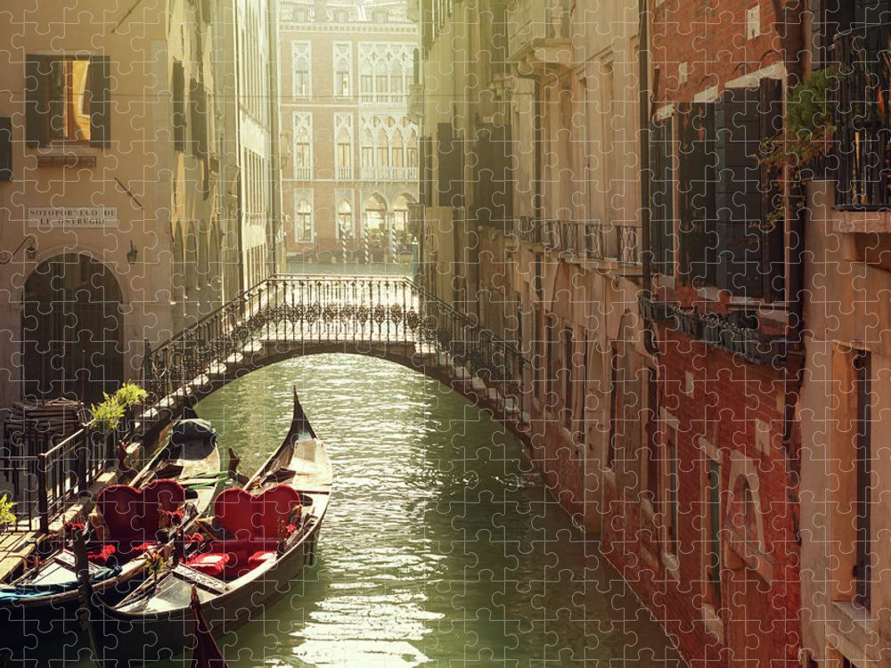 Veneto Puzzle featuring the photograph Venetian Canal by Mammuth
