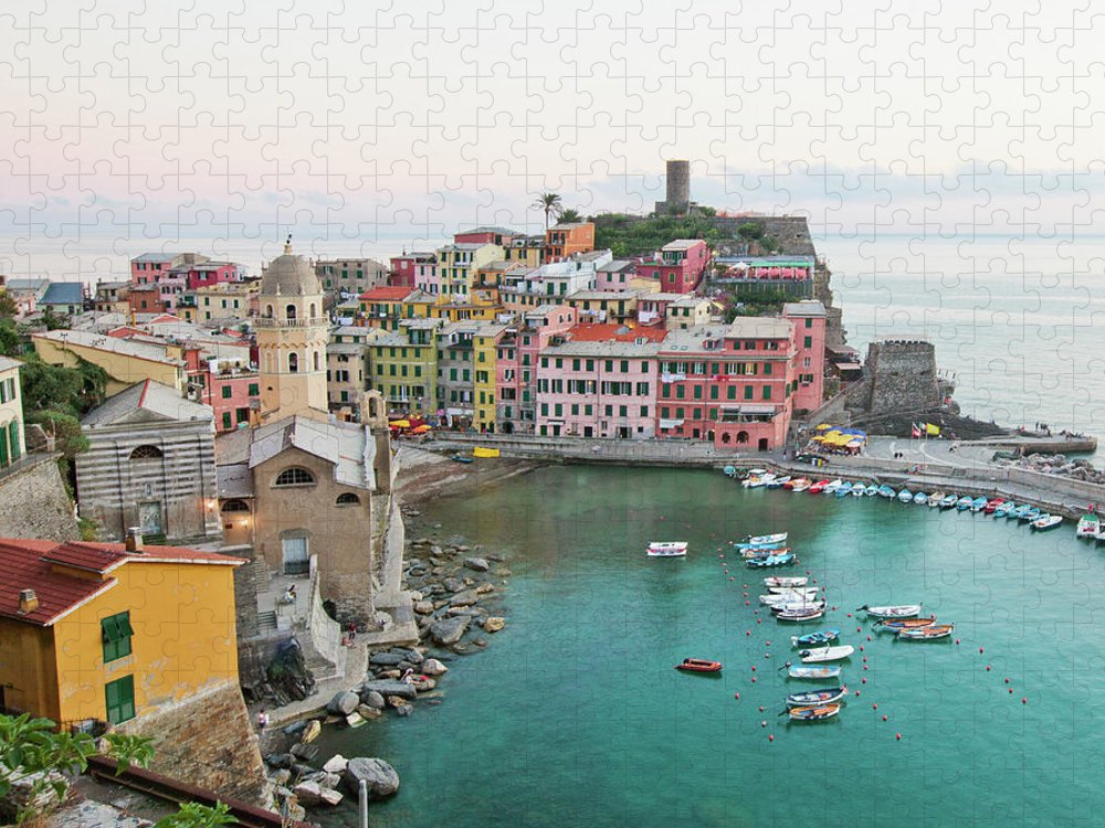 Built Structure Puzzle featuring the photograph Vernazza Italy by M Swiet Productions