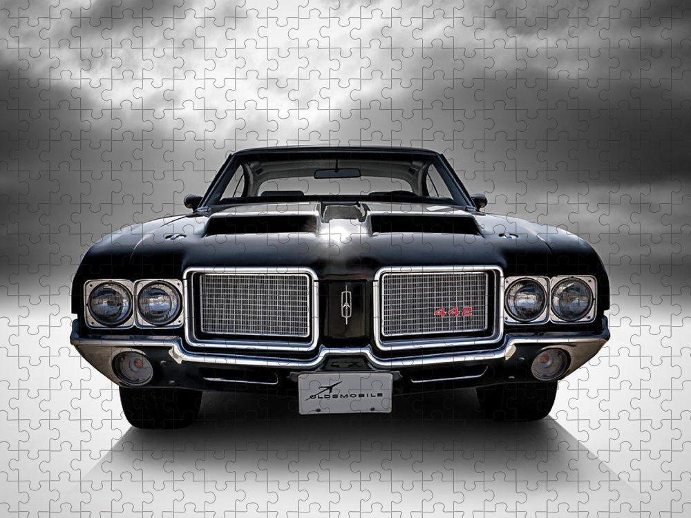 Car Puzzle featuring the digital art Vintage 442 by Douglas Pittman