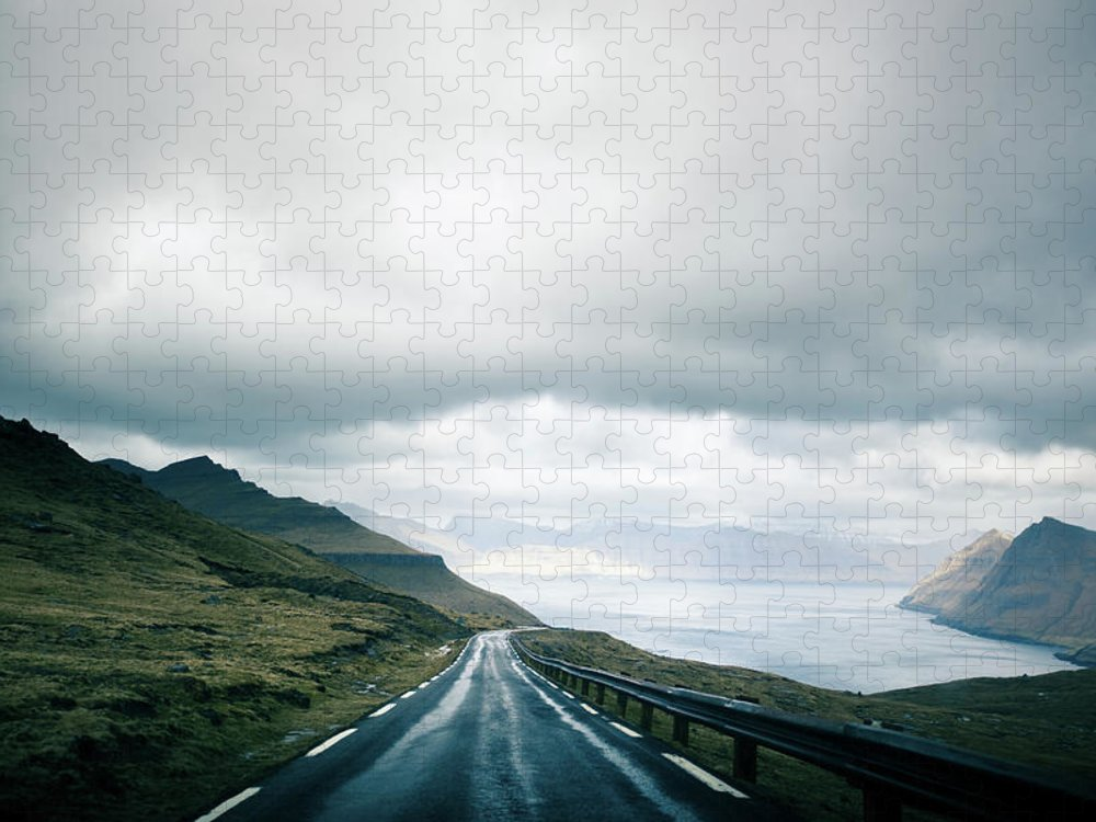 Tranquility Puzzle featuring the photograph Wet Road by Annelogue Photography