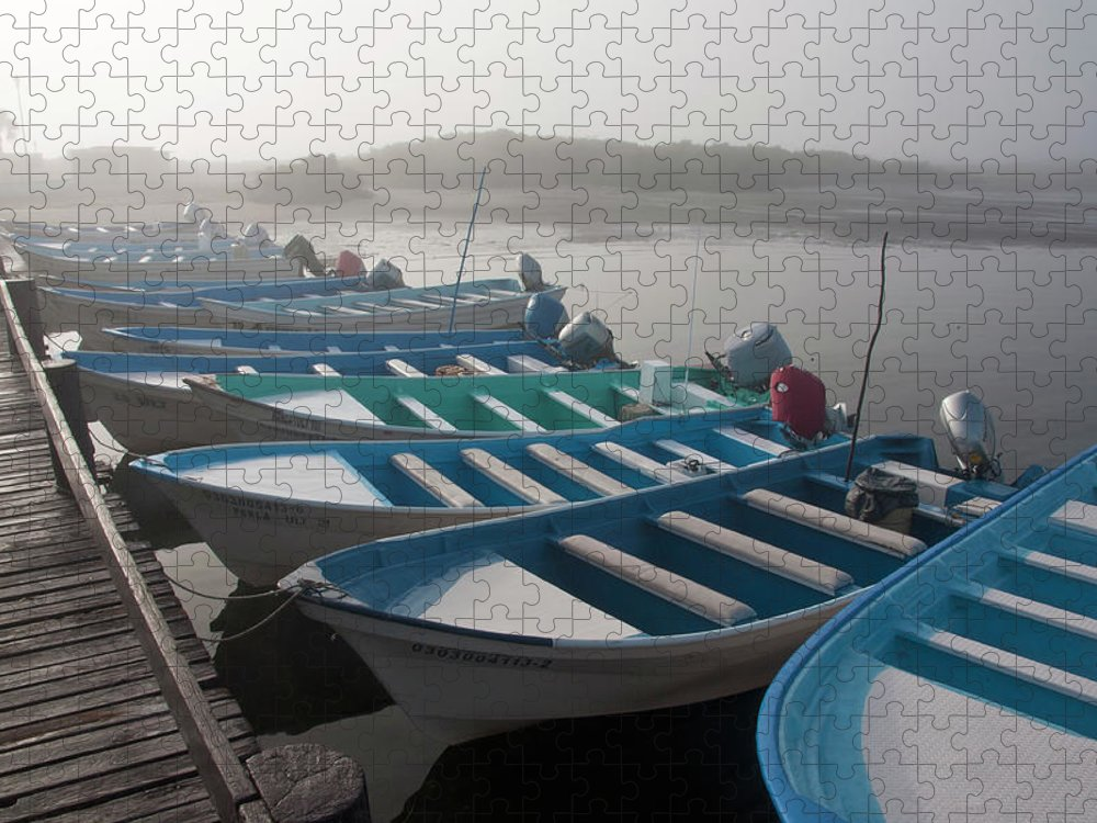 Tourboat Puzzle featuring the photograph Whale Watching Tour Boats Docked At by Mark Newman