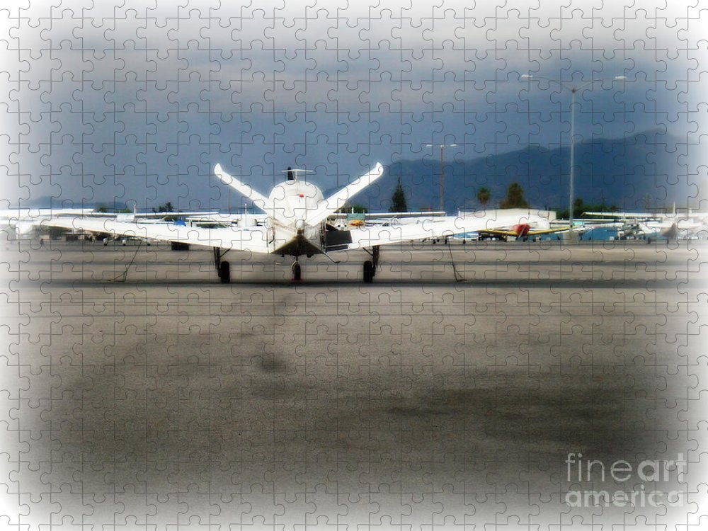 Aviation Puzzle featuring the photograph What fly girl is dreaming about by De La Rosa Concert Photography