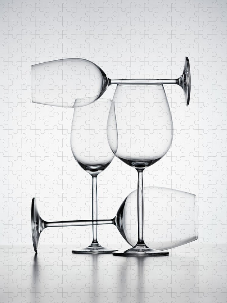 Empty Puzzle featuring the photograph Wine Glasses by Jorg Greuel