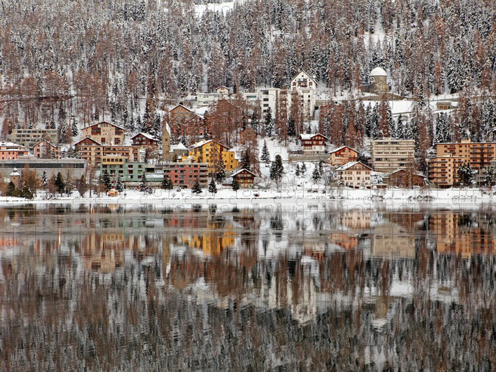 Holiday Puzzle featuring the photograph Winter View Of Saint Moritz by Massimo Pizzotti