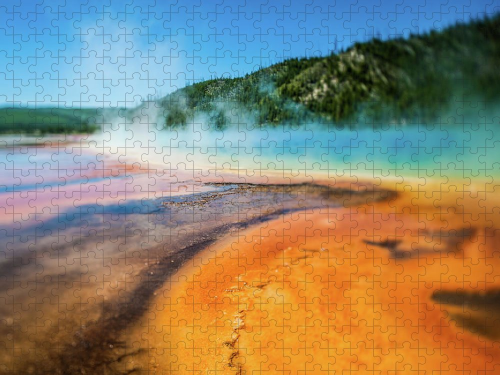 Scenics Puzzle featuring the photograph Yellowstone by Eddy Joaquim