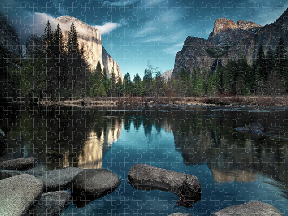 Scenics Puzzle featuring the photograph Yosemite Valley by Joe Ganster