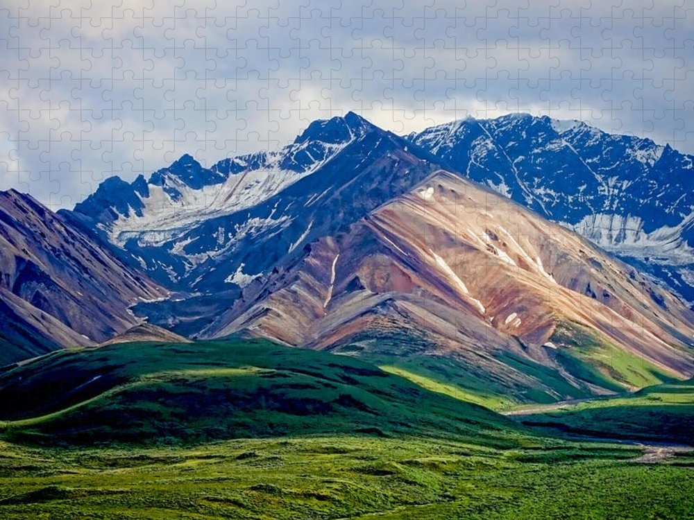 Denali Puzzle featuring the photograph Alaskan Range by Heather Applegate