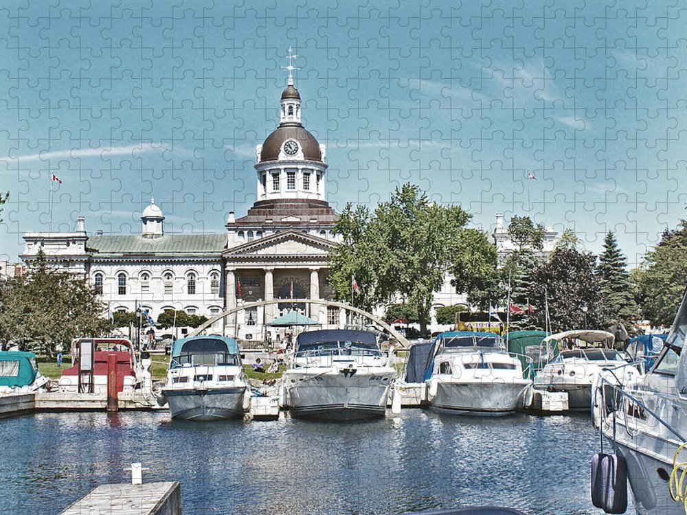 Kingston Puzzle featuring the photograph City Hall Kingston Ontario Canada by Peggy Holcroft