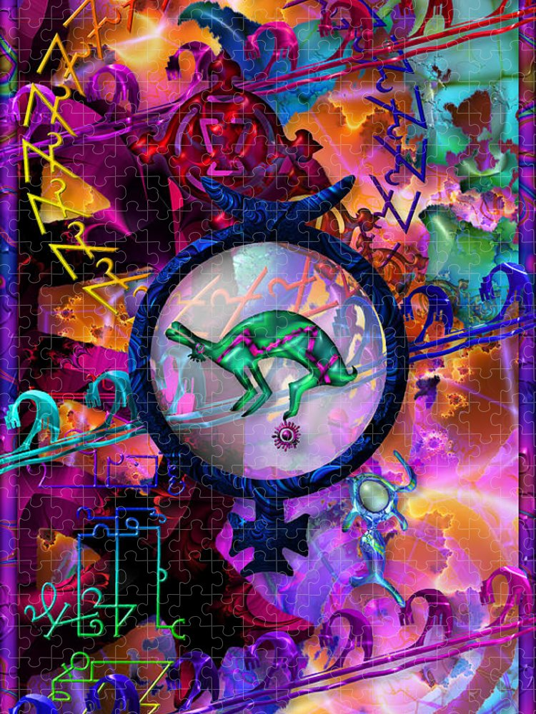 Symagery Puzzle featuring the digital art Symagery 23 by Kenneth Armand Johnson