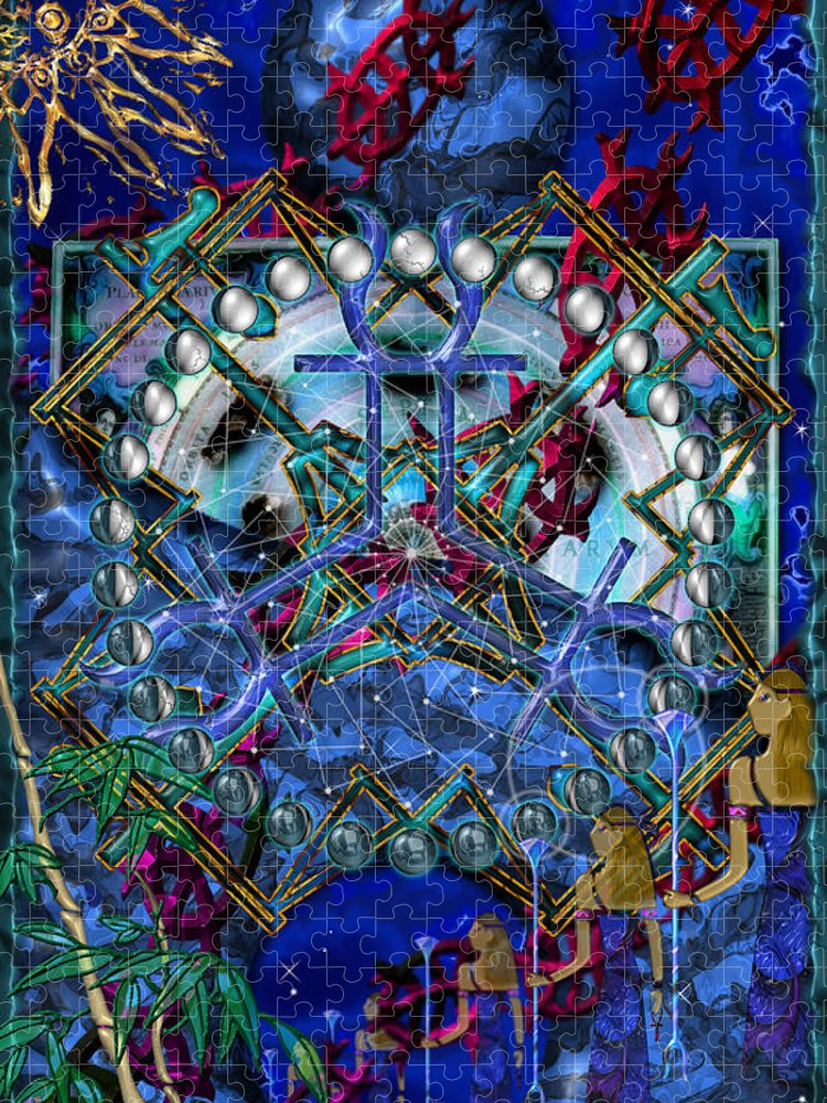 Symagery Puzzle featuring the digital art Symagery 32 by Kenneth Armand Johnson