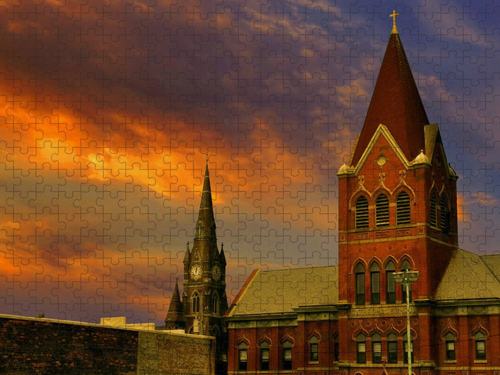 Church Puzzle featuring the photograph Towers Of Faith by Brian Fisher