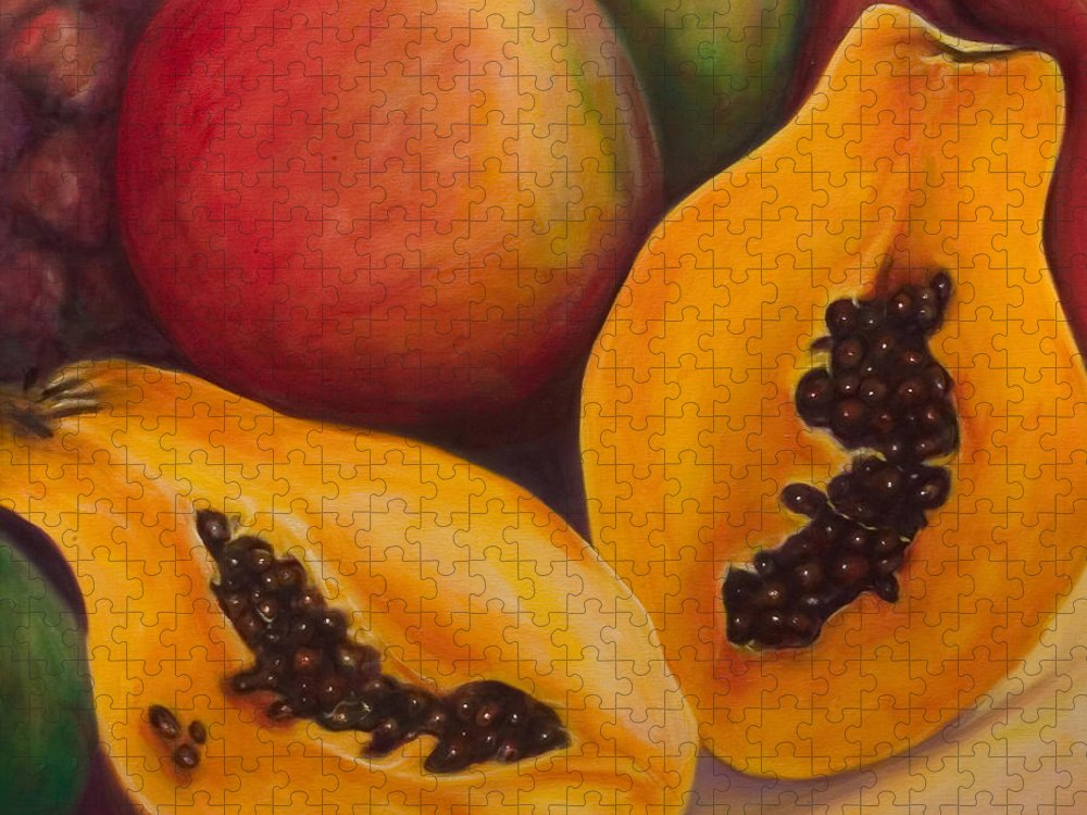 Twins Puzzle featuring the painting Twins Crop by Shannon Grissom