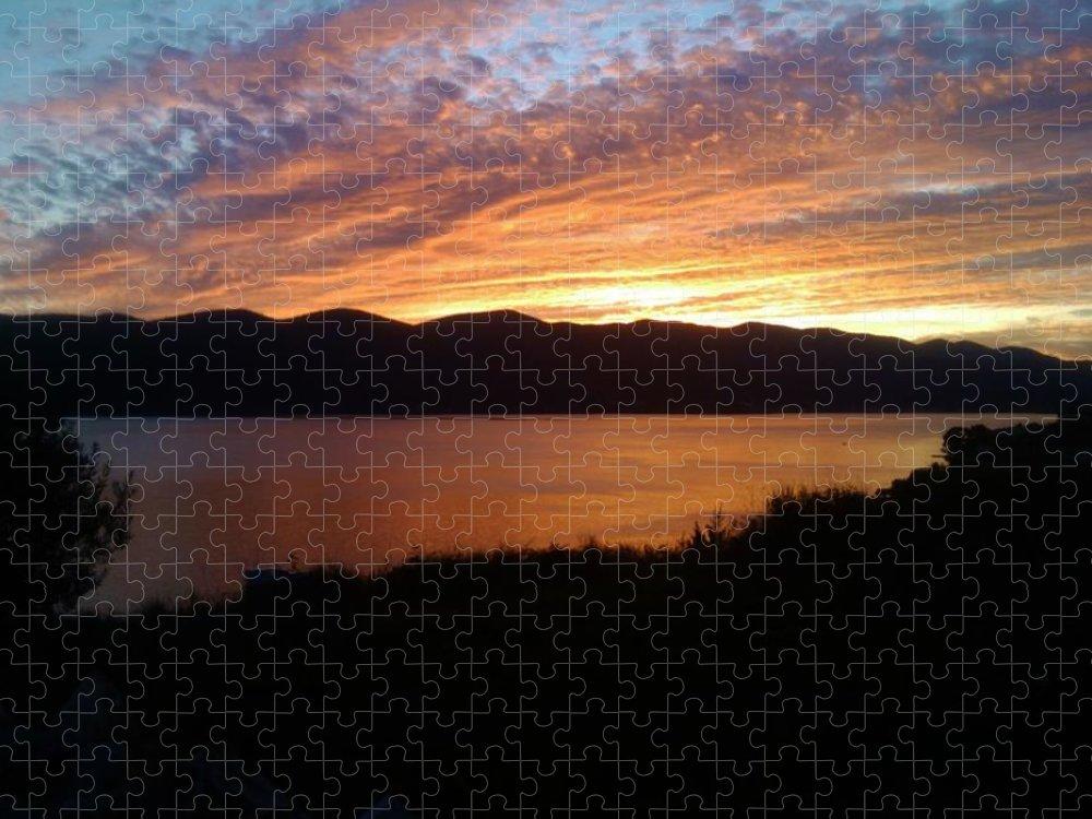 Viganj Puzzle featuring the photograph Winter sunset by De La Rosa Concert Photography