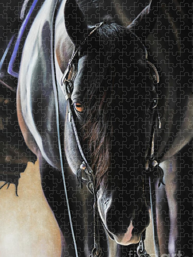 Aqha Puzzle featuring the pastel Any Time...Any Place by Joni Beinborn