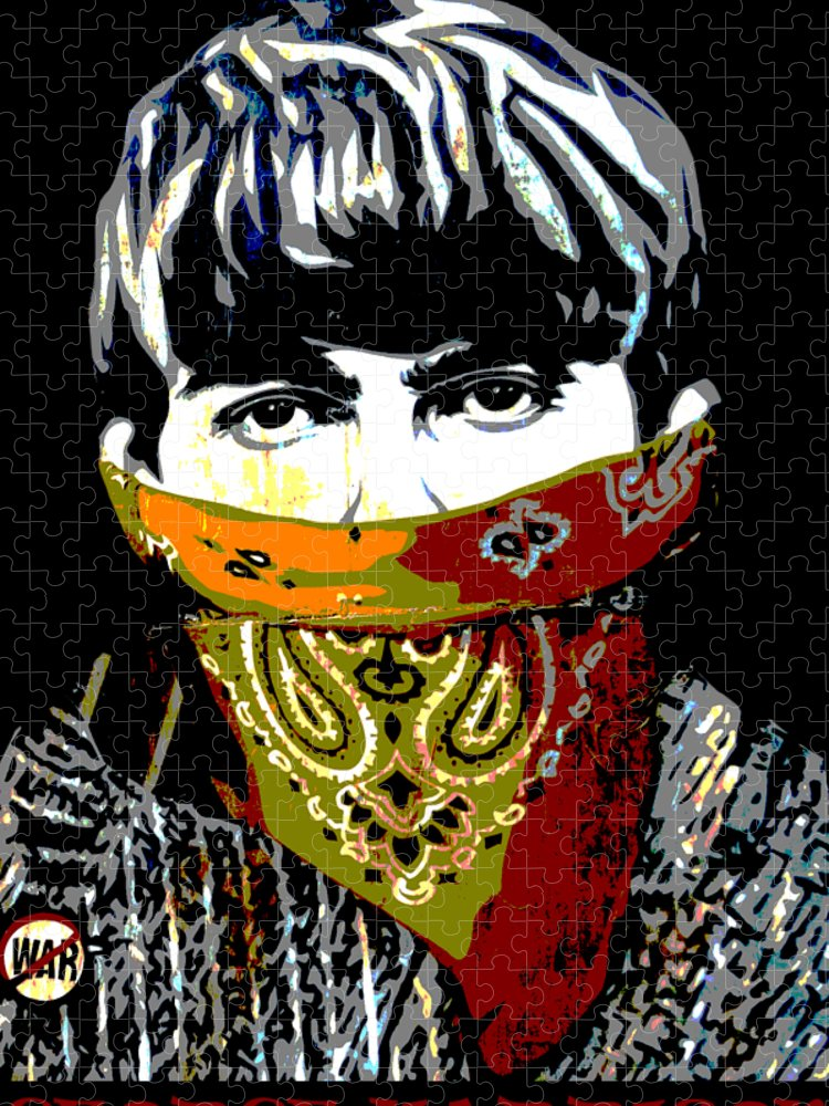 Banksy Puzzle featuring the photograph George Harrison wearing a face mask by RicardMN Photography