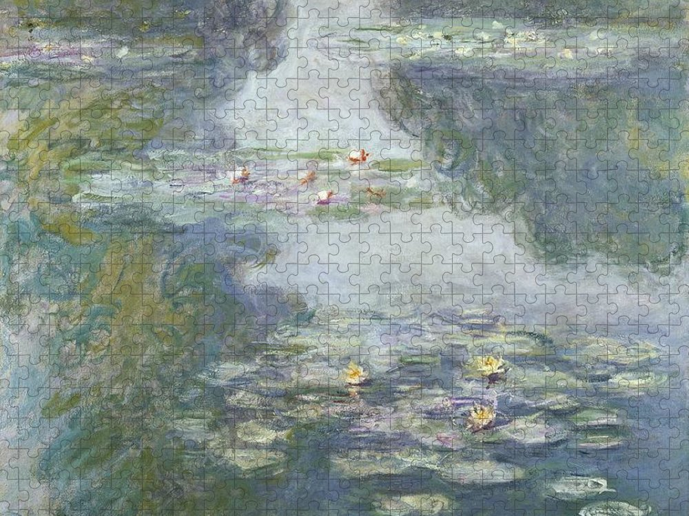 Pads Puzzle featuring the painting Waterlilies by Claude Monet